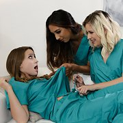 Laney And Jessie Help Kiarra With Bedside Manners