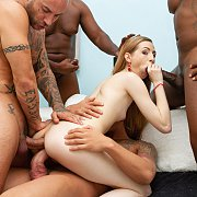 Petite Areana fox Becomes 3 Holer During Gangbang