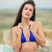 Beautiful Erotic Model Edessa In Her Blue Bikini