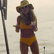 Late Forties Rebecca Gayheart In Two Piece Bikini On Film
