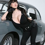 Busty Asian Poses By Classic Porsche