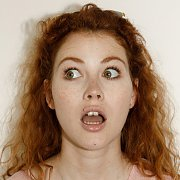 Open Mouth On A Freckled Face Redhead