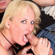 Blue Eyes Blonde Czech Mom Blows