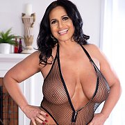 Very Large Boobs Latina Milf Strips Lingerie
