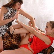 Strip Wrestling Lesbian Girls