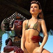 Bikini Beach Girl Creature Fucked