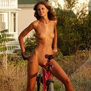 Skinny Erotic Nude Biker