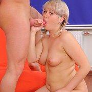 Chubby Blonde Giving Head