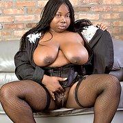 Big Black Woman Teasing