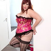 Lingerie And Stockings Fat Mom