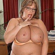 Fat Office Woman Strips