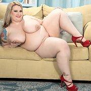 Beautiful Fat Woman Strips On Sofa