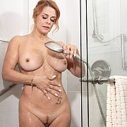 Sexy Latina Mature In The Shower