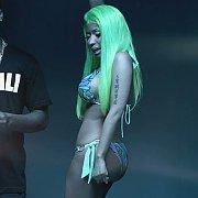 Green Haired Nicki Minaj In A Bikini