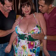 Big Tits Plump Milf With Two Men