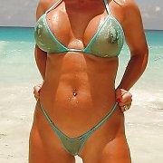 Hot Busty 30 Something Body In Bikini All Wet