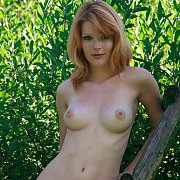 Sensual Redhead With Freckles Nude Out In Nature
