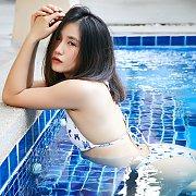 Tiny Tits Asian Bikini Teen At The Pool