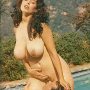 Busty Classic Christy Canyon Pussy Licking By The Pool