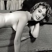 Nude Vintage Photo Of Lady Laying Across Sofa
