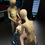 Shackled Naked 3D Babe Ready For Alien Probing