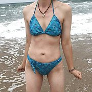 Sexy Bikini Milf Body At The Beach By The Water
