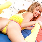 Yellow Thong Teen Teasing