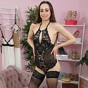 Gabriella Rosa Teddy Lingerie And Stockings Teaser