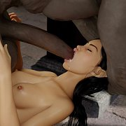 Busty 3D Nud On All Fours Teasing A Little Creature