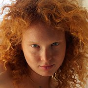 Curly Redhead Arina Bik With Freckles Nude