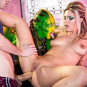 Wicked Anal Threesome Space Cosplay