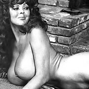 Naked Vintage Lady With Large Tatas