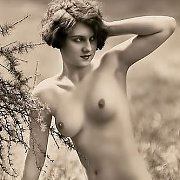 Vintage Erotica Photo Of Naked Lady Outdoors