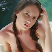Nude Babe With Hair In Tails