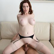 Naughty Wife Riding A Man On The Sofa