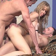 Milf DP With Older And Younger Man