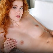 Freckled Face Ginger Masturbates