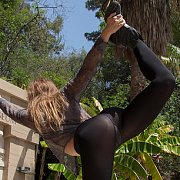 Playful In Black Panyhose