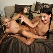 Braided Pigtails On Lesbians Coeds