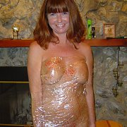 Mature In Saran Wrap