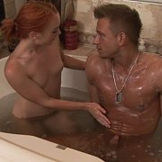 Petite Redhead In Soapy Massage