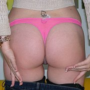 Nice Amateur Ass In Pink Thong