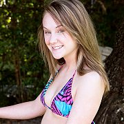 Bikini Teen Gets Naked While Laying Out