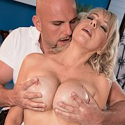 Chesty Mature Sex With A Stud