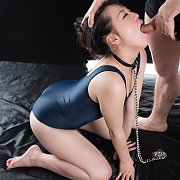 School Swimsuit Asian Girl Mouth Fucked
