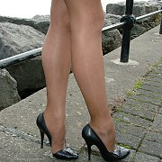 Stiletto And Heels Lady At The Park