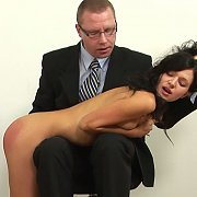 Euro Girl Gets Over The Knee Spanking