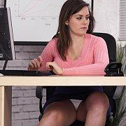 Under The Desk Pantie Peeks