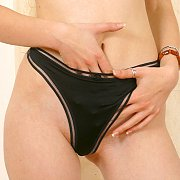 Colorful Coed Panties Close Up Photo