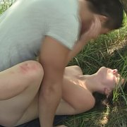 Young Lady Banged In Nature